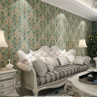 Luxury Classic Non Woven European Glossy Stylish Modern Damask Luxury 3D Wallpaper For Living Room And