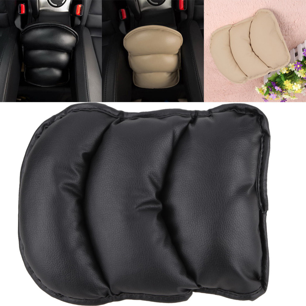 Car Auto Universal Vehicle Arm Rest Seat Box Pad Protective Case Pu Mats Armrest Center Hand Pad Cover Console Pad Cushion Box To Adopt Advanced Technology Interior Accessories