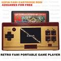 Retro 8 bit Dendy Portable jugador Handheld del juego con 428in1 juegos para el envío / play 60 P juego de cartucho JP versión / TV out / 2.8 pulgadas LCD
