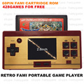 Retro 8bit Dendy Portable Handheld Game player with 428in1 games for free/play 60P game cartridge JP version/TV out/2.8inch LCD