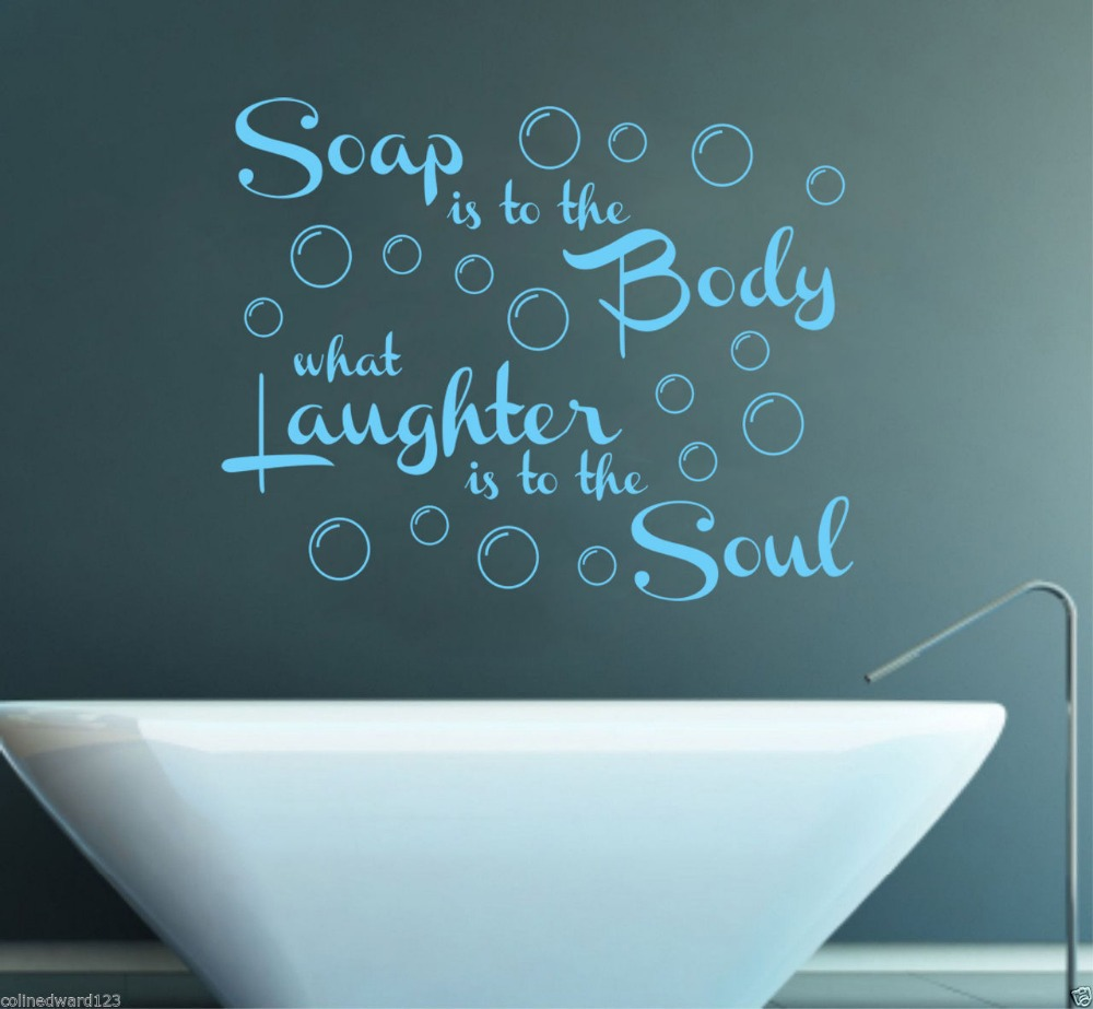Bathroom wall decor quotes - Free Shipping Soap Is To The Body Quote Vinyl Wall Sticker Bathroom Wall Decal Mural Home
