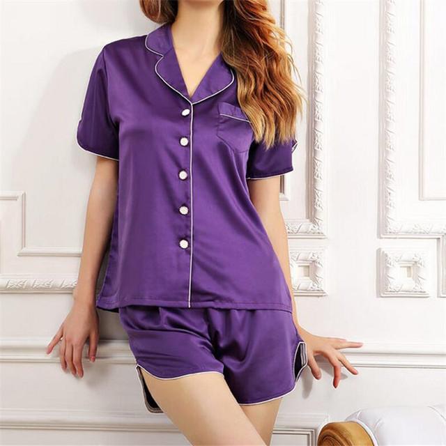Recém-chegados do Sexo Feminino Conjuntos De Pijama De Seda Sexy Mulheres Pijamas Ternos Homewear Sleepwear Confortável Do Vintage Mujer Roupa Interior # LL49