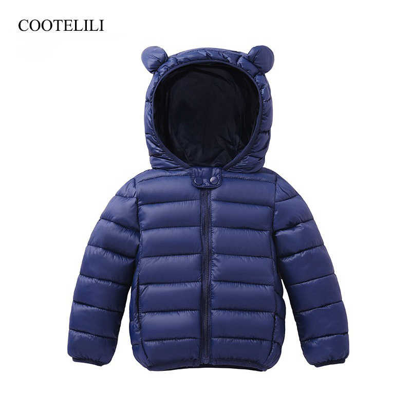 COOTELILI Cute Bear Children's Parkas Winter Jacket For Girls Boys Infant Overcoat Winter Children Coats Warm Kids Jacket Baby
