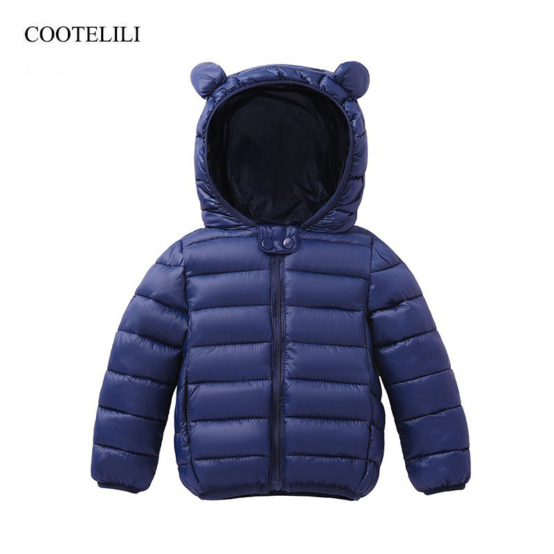 COOTELILI Cute Bear Childrens Parkas Winter Jacket For Girls Boys Infant Overcoat Winter Children Coats Warm Kids Jacket Baby COOTELILI Cute Bear Childrens Parkas Winter Jacket For Girls Boys Infant Overcoat Winter Children Coats Warm Kids Jacket Baby
