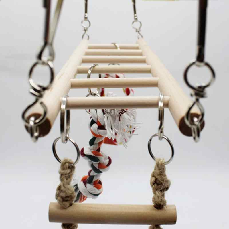 1PC Parrot Toys Parrot Climbing Net Hanging Ladder Bridge Macaw Cage Chew Decoration Bird Toys Pet Supplies