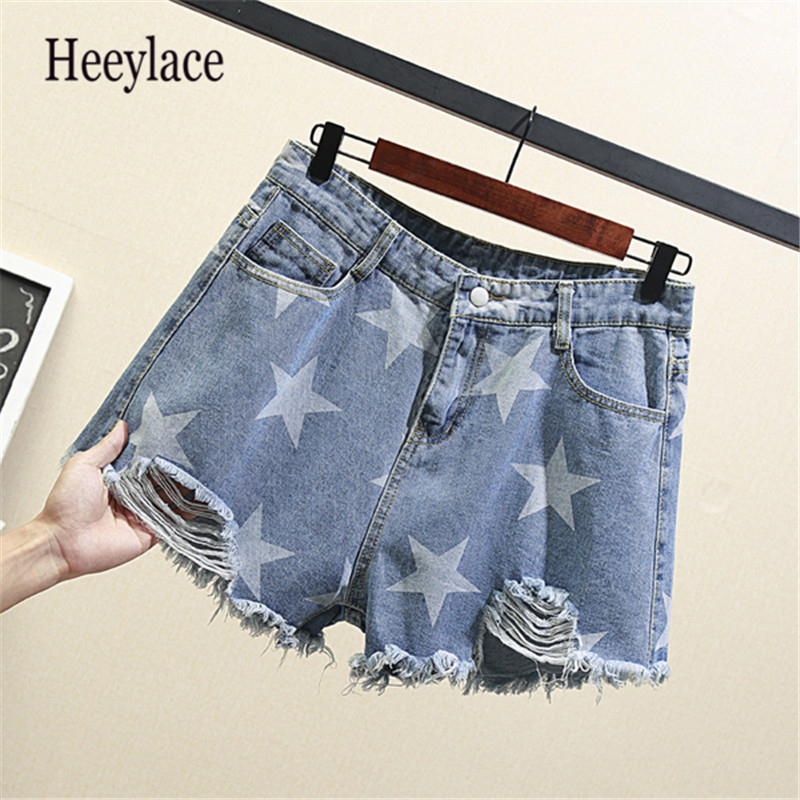20 Styles Hot Sale Plus Size Women Denim Shorts High Waist Short Wide Leg Female Caual Summer Ladies Shorts Jeans For Women 5XL