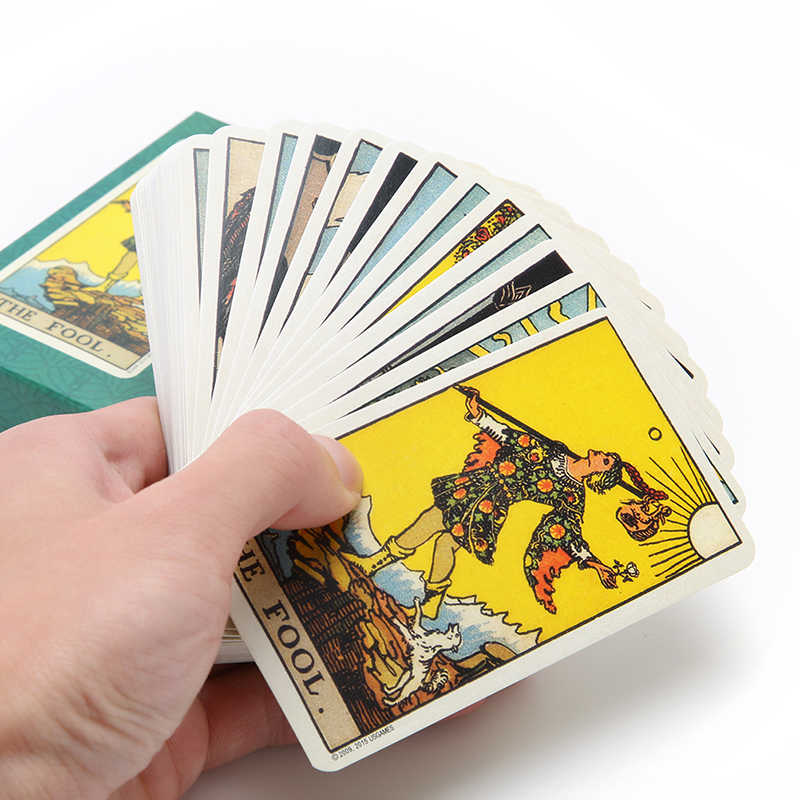 78Pcs/Set Hot Sale Tarot Deck Board Game CardsFull English Radiant Rider  Wait Tarot Cards Factory Made Smith