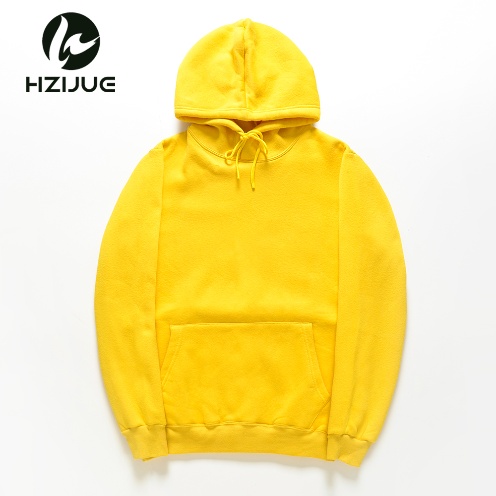 Hzijue 2018 New Yellow/orange/blue/red Hoodie Hip Hop Street Wear Sweatshirts Skateboard Men/woman Pullover Mens Thick Clothes Men's Clothing