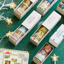 Cute Cartoon Christmas Masking Tape Set Creative Kawaii DIY Decoration Hand Account Adhesive Washi Tape Gift Art Supplies 024063 цена и фото