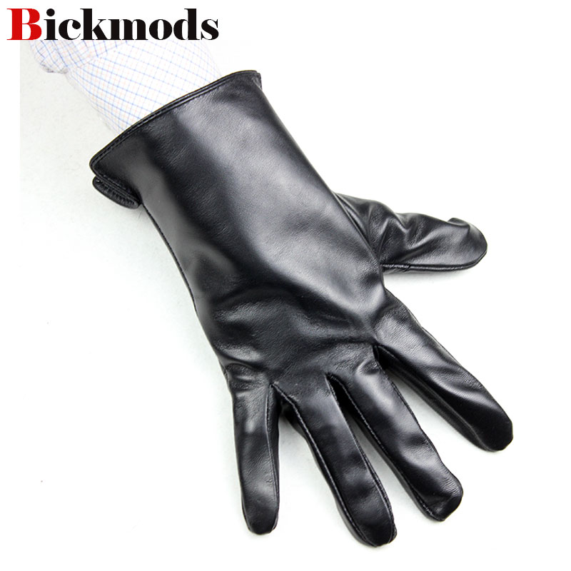 Sheepskin Gloves Men's Thin Section Unlined Single Leather Straight Paragraph Spring And Summer Men's Driving Leather Gloves
