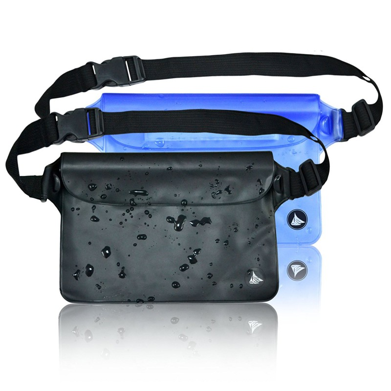 Waterproof Pouch Dry Bag Case With Waist Shoulder Strap Pack Blue and Black Color