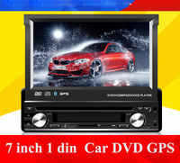 Universal 1 Din 7 Car DVD GPS Player With Audio Radio Stereo USB SD BT Free