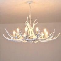 חידוש זוהר אור קרן צבי נברשת לחדר אוכל מודרני לבן שרף אירופה נברשות תאורה לסלון