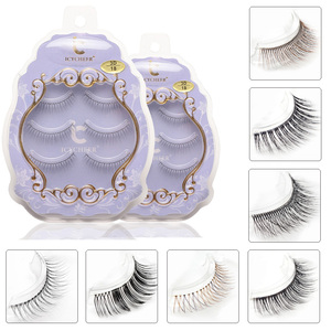 Image 3 - Icycheerer faux cils longs croisés, fins et doux, Look naturel, maquillage 3D, Extension