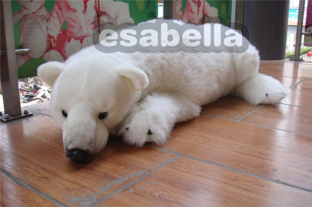 Christmas White Polar Bear Plush And Stuffed Toy Free Shipping In