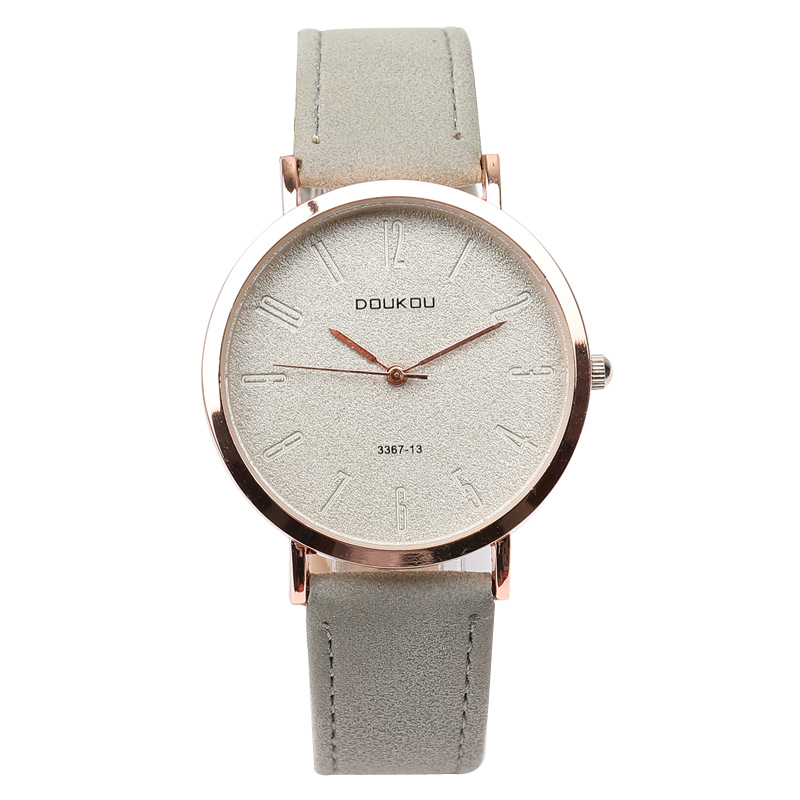 New Brand Top Luxury Rose Gold Vintage Retro Simple Leather Strap Women Watch Lady Watches Women Wristwatches Girl Hot Gift