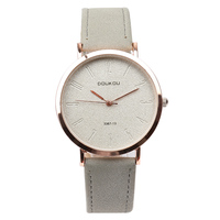 New Brand Top Luxury Rose Gold Vintage Retro Simple Leather Strap Women Watch Lady Watches Women
