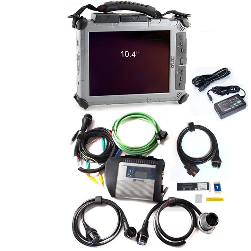 Mb sd connect c4 star diagnosis date logiciel multi-langues 2018.09 ssd super avec un ordinateur portable xplore ix104 i7 4g prêt à utiliser