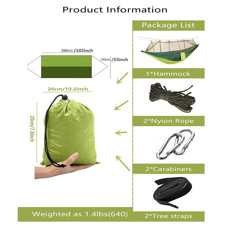 Ultimate SaleCamping Hammock Hanging-Bed Mosquito-Net Sleeping-Swing Outdoor Portable Parachute Fabric