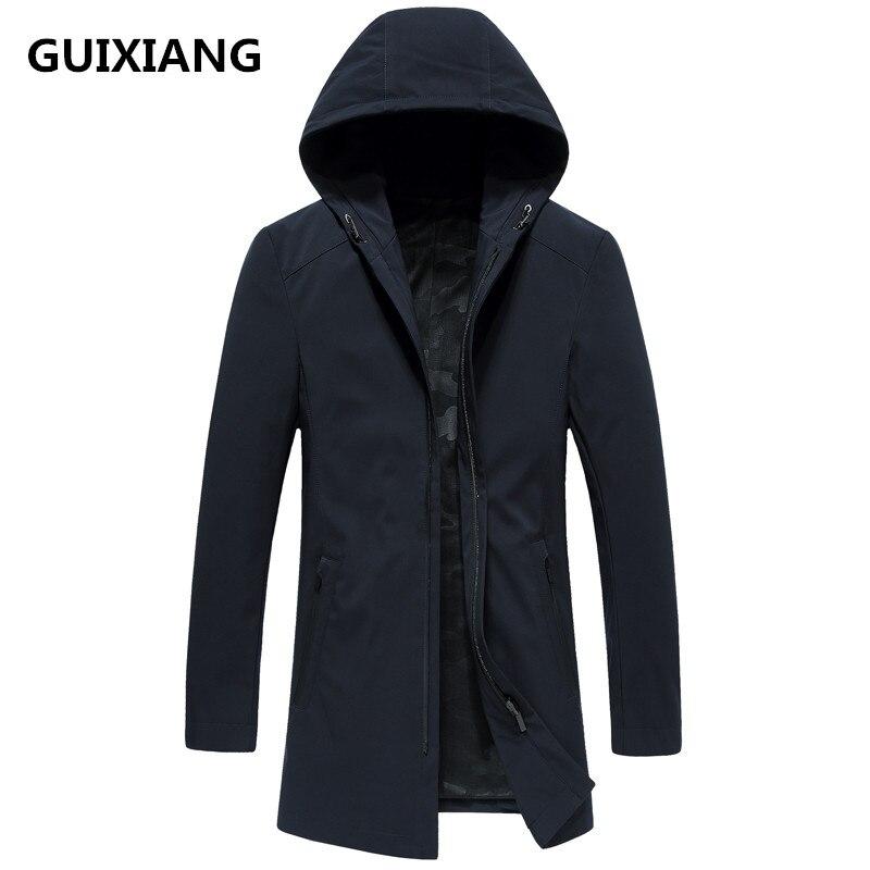 2018 autunno Nuovo stile degli uomini di modo di alta qualità degli uomini giacca casual con cappuccio trench coat giacche uomini cappotto frangivento taglia M 3XL