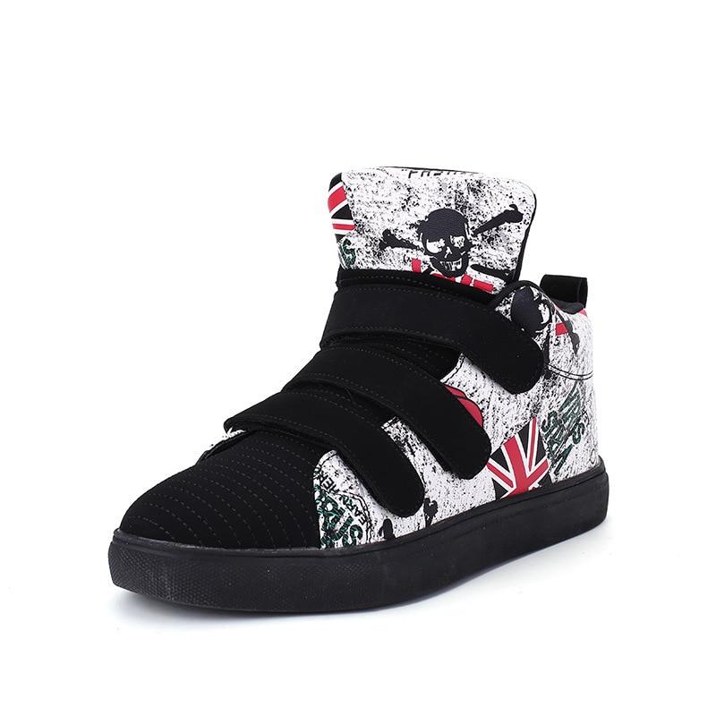 ФОТО 2017 Autumn Men's Hip Hop Shoes Hookloop Designers Mens Trainers High top Shoes Chaussure zapatillas deportivas hombre L111509