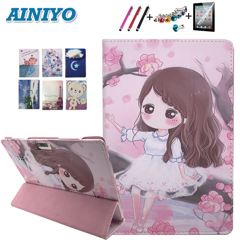 Cartoon Case For Voyo q101 4g / i8 / i8pro Stand Pu Leather