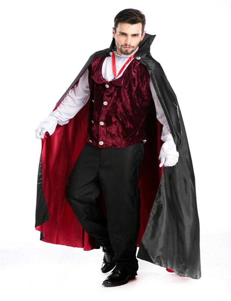 Male Cosplay Magician man Cloak Vampire Movies costumes Halloween ...