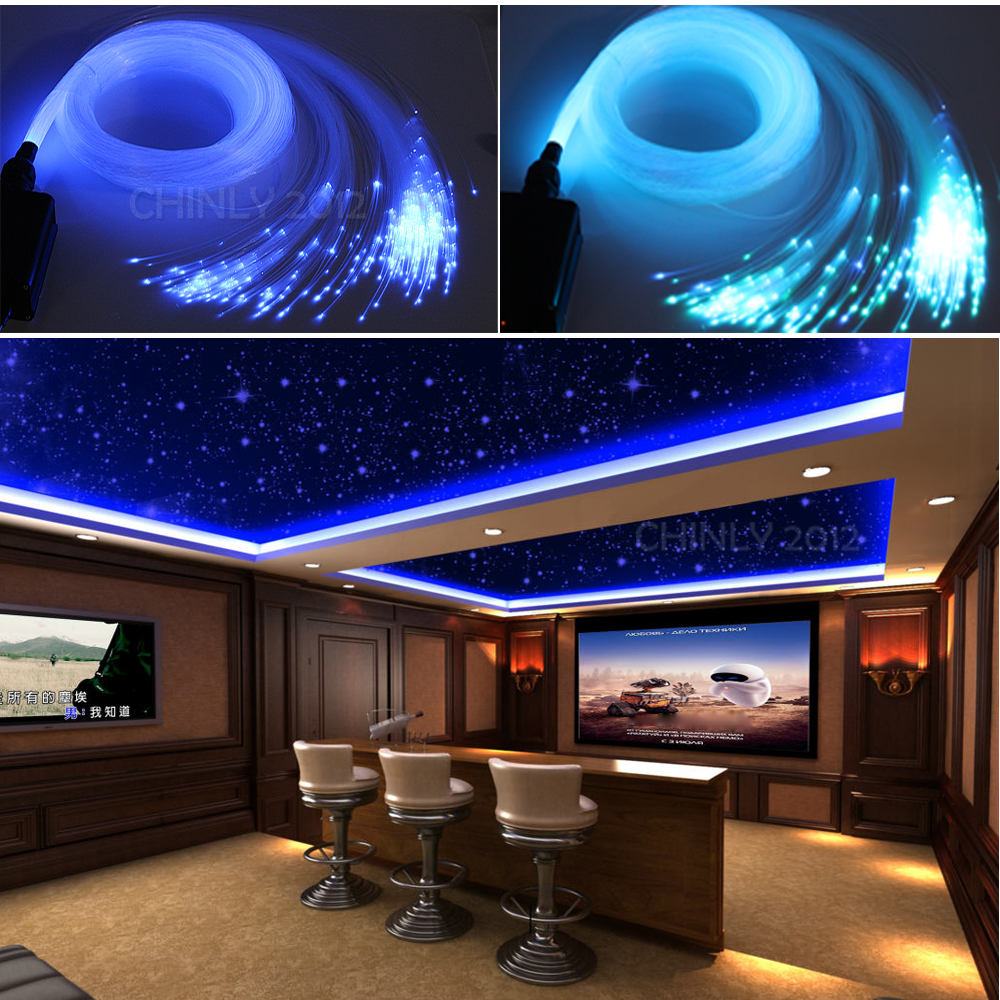Fiber Optic Light Ceiling Starry Sky Effect 16W RGBW 28Key RF Remote  Lamp 0.75mm 2M 3M 4M 5M 100Strands fiber optical cable Fiber Optic Light Ceiling Starry Sky Effect 16W RGBW 28Key RF Remote  Lamp 0.75mm 2M 3M 4M 5M 100Strands fiber optical cable