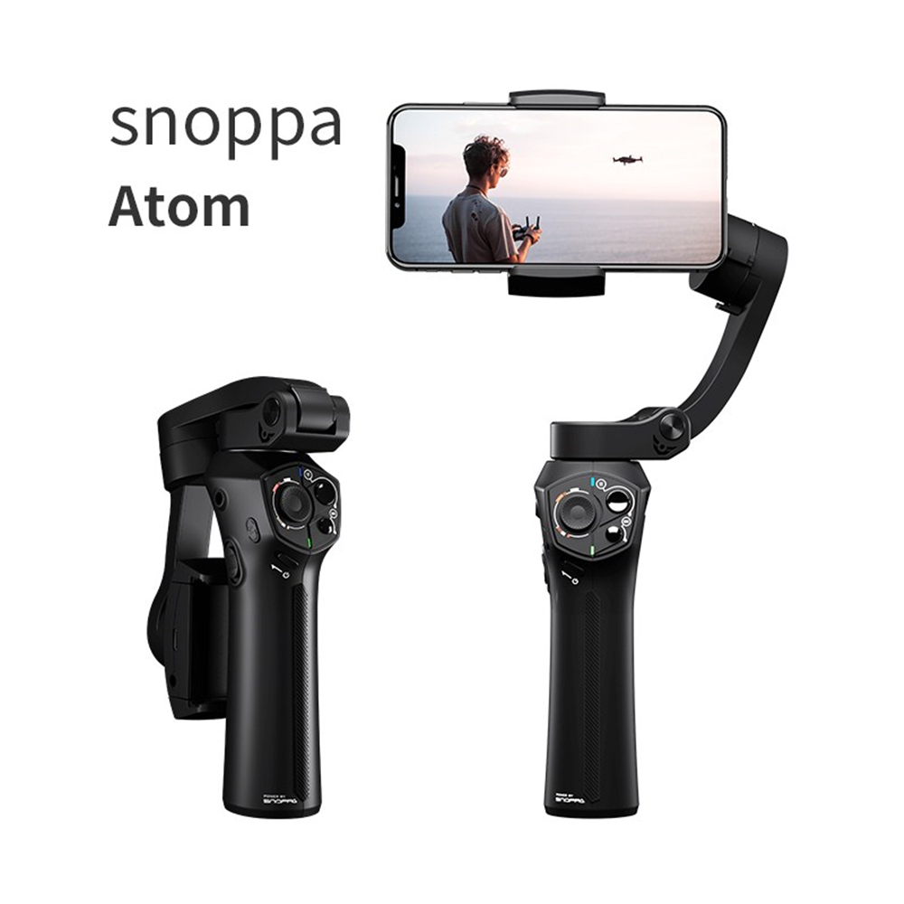 Snoppa Atom 3-Axis Foldable Pocket-Sized Handheld Gimbal Stabilizer For GoPro Wireless Charging, Built-in Microphone PK Smooth 4