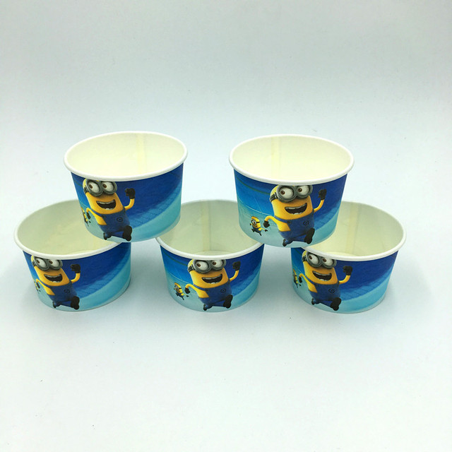minions ice cream cup cake cup kids favor birthday bowel minions
