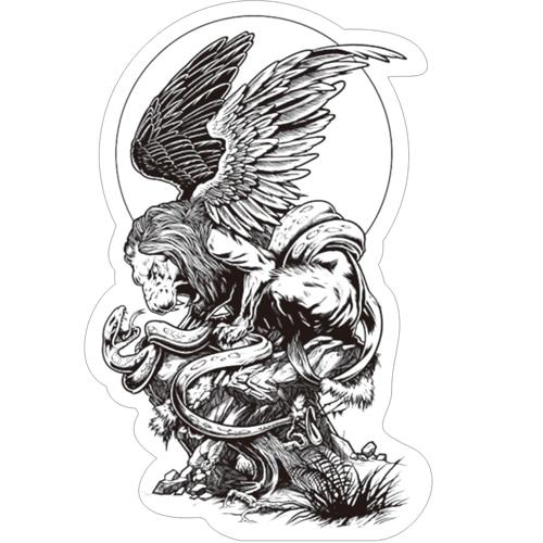 Winged lion tattoo - photo#35
