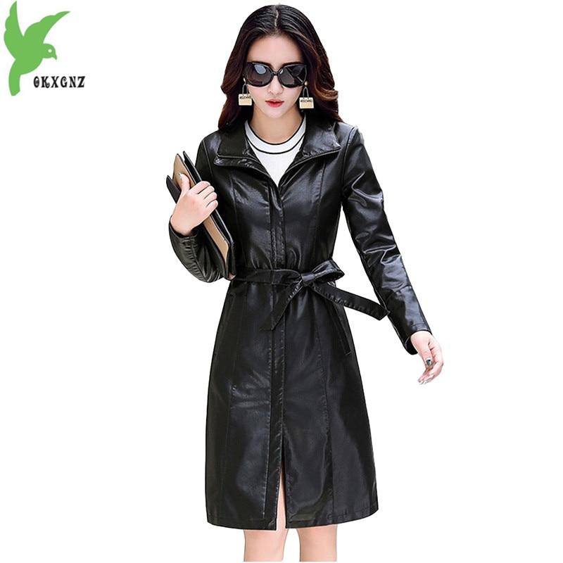 Veste en cuir pour femmes automne et hiver en peau de mouton manteau Eco en cuir dames veste grande taille 5XL manteau coupe-vent OKXGNZ 1752