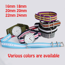 Watchband nato nylon watch band various colors choose for belt wristband gift 16 18 20 22.jpg 250x250