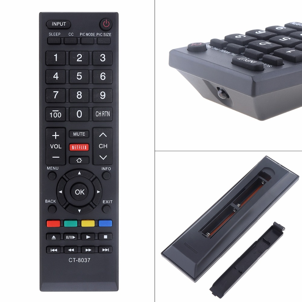 Universal Replacement TV Remote Control Support 2 x AAA Batteries with Long Tran