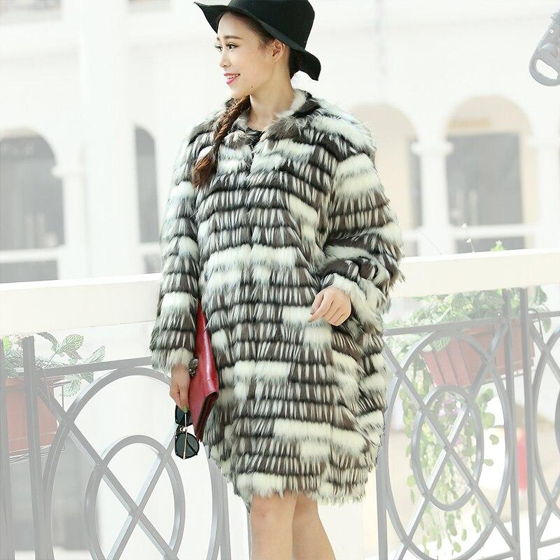 Nerazzurri Abrigo de piel sintética de invierno Mujer Suelta mullida - Ropa de mujer - foto 2