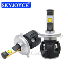 SKYJOYCE 1 Set H4 60W/120W 12000LM E70 ETI 4SMD Chips H7 Car LED Headlight Kit 6000K White H4 H7 H11 9005 9006 Auto LED Headlamp(China)