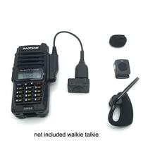 Беспроводной K-Head Bluetooth PTT Mic гарнитура с изменением кабель адаптер для Baofeng UV-5R BF-9700 A-58 UV-XR GT-3WP UV-9R Плюс Радио