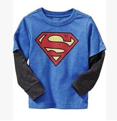 Marvel's The Avengers T shirt superman, batman and spiderman t shirt girls Kids long Sleeve Tops girl T-shirt Tees 100%Cotton
