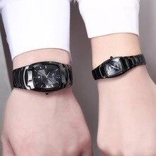 DALISHI бренд Для мужчин Для женщин пару часов прямоугольник часы модное платье Любители наручные часы календарь плавание часы Relogio