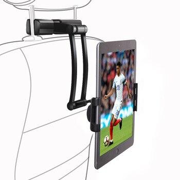 цена на Vmonv Aluminum Tablet Car Holder for IPad Air Mini 2 3 4 Pro 12.9 Back Seat Headrest 5-13 Inch Tablet Phone Stand for Iphone X 8