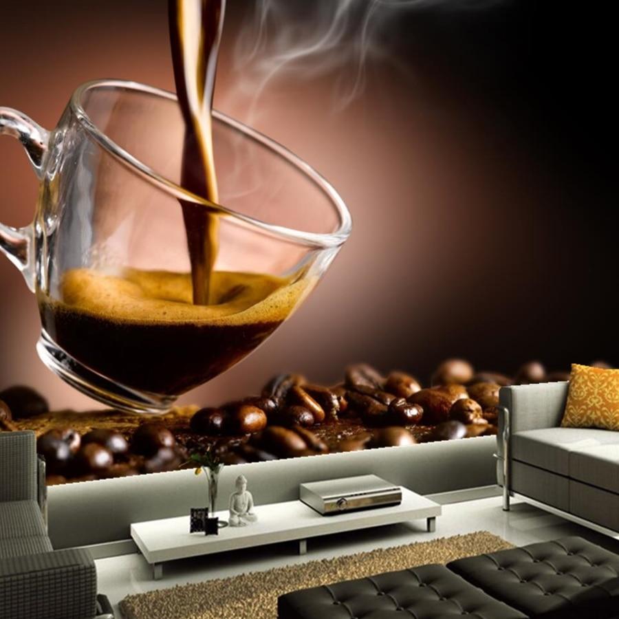 Benutzerdefinierten wandbild, Papel de parede Kaffee Korn Tasse ...