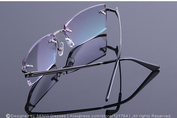 44f21df688 2019 Men Rimless Reading Glasses Prescription Eye Glasses Fashion ...