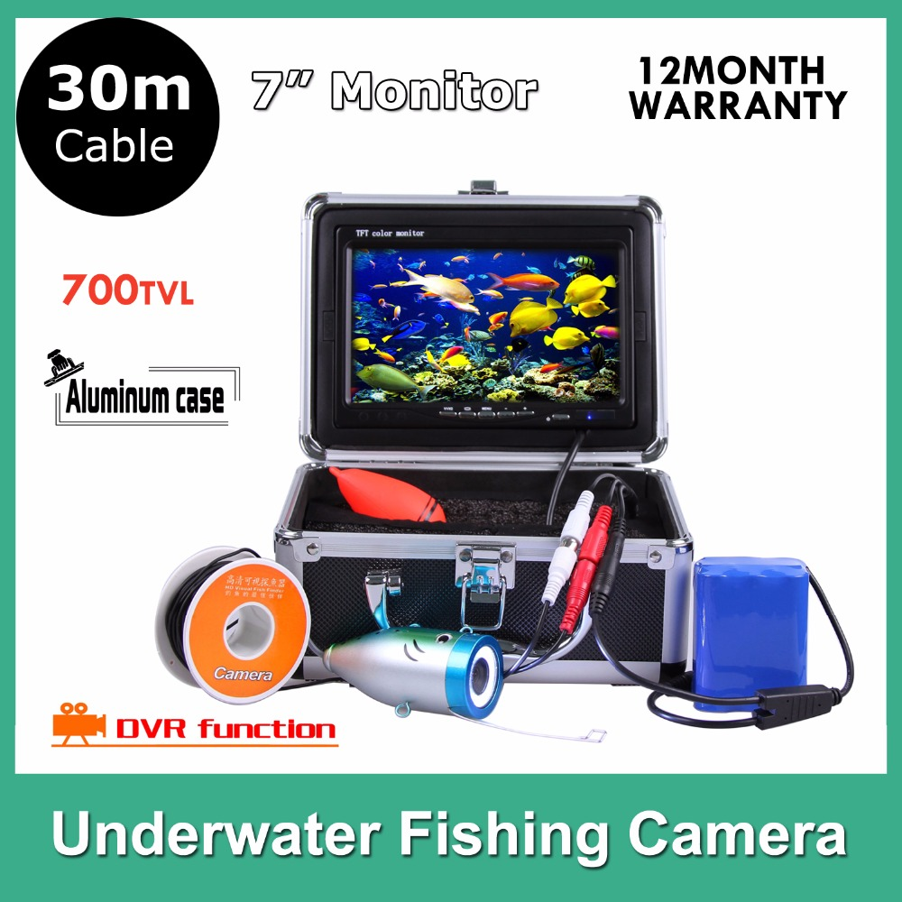 Hotsales 7Inch TFT LCD HD Underwater Fishing Video Camera underwater 30M Fish Finder, Record and Photo DVR Function  цена и фото