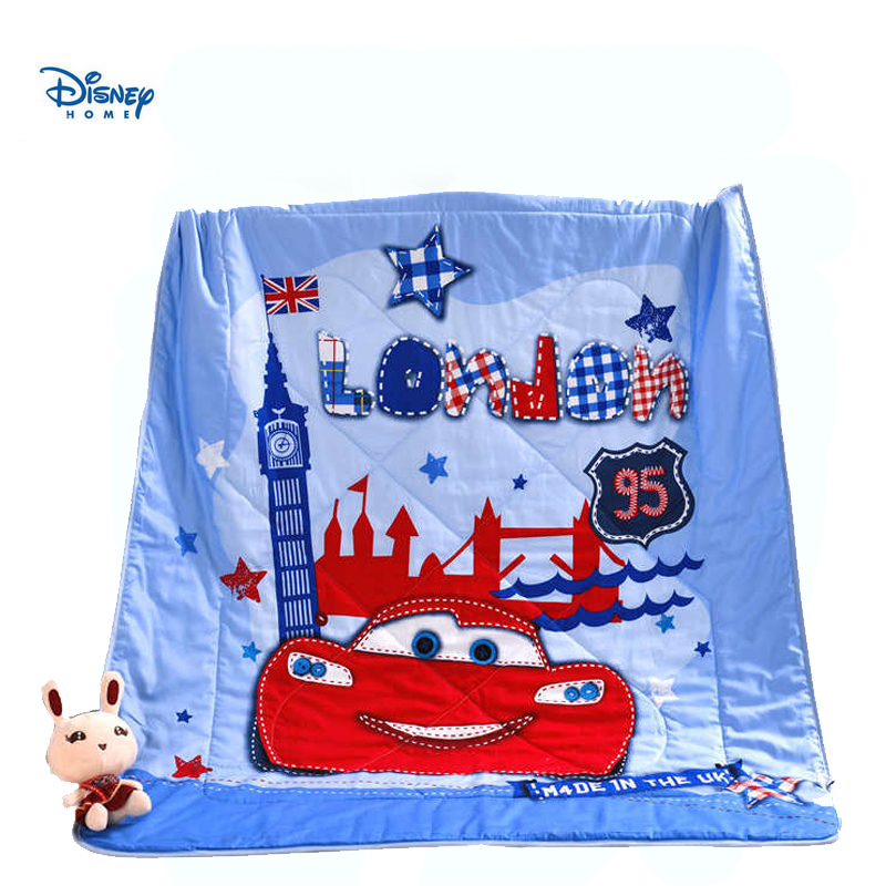 120*150cm mcqueen cars stitching blanket 100% cotton bed spreads single size for baby boy disney home decor quilt thin comforter