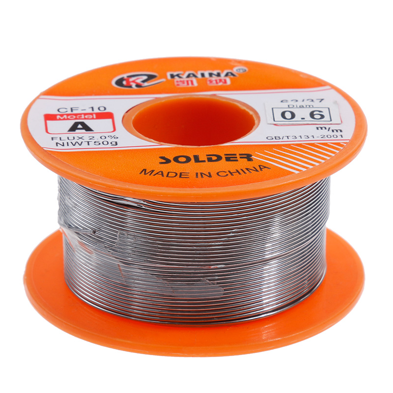 Vastar 0.6/0.8/1/1.2/1.5MM 63/37 FLUX 1.2% / 2.0% 45FT Tin Lead Tin Wire Melt Rosin Core Solder Soldering Wire Roll