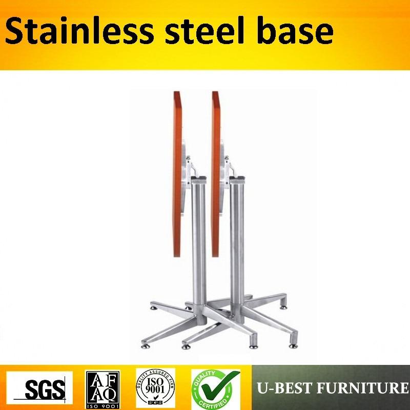 все цены на U-BEST Outdoor Aluminum Folding Table Base,metal cast furniture legs folding pedestal aluminum dining table base for restaurant онлайн