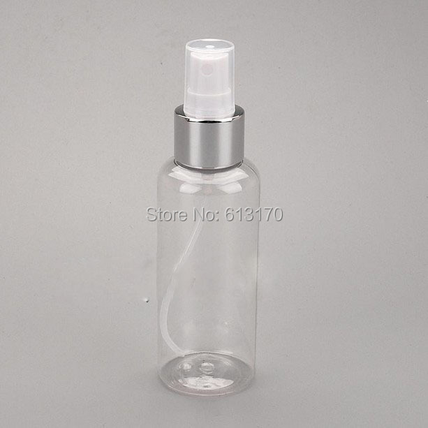 120ml Pet Spray Bottles Empty Clear Perfume Vials Travel Makeup Bottle Silver Rim Atomizer Cosmetic Packing Container Fragrant Aroma Skin Care Tools