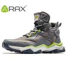 RAX 2018 Waterproof Hiking Boots For Men Outdoor Waterproof Trekking Shoes Breathable Hiking Shoes Leather Sports Sneakers Men