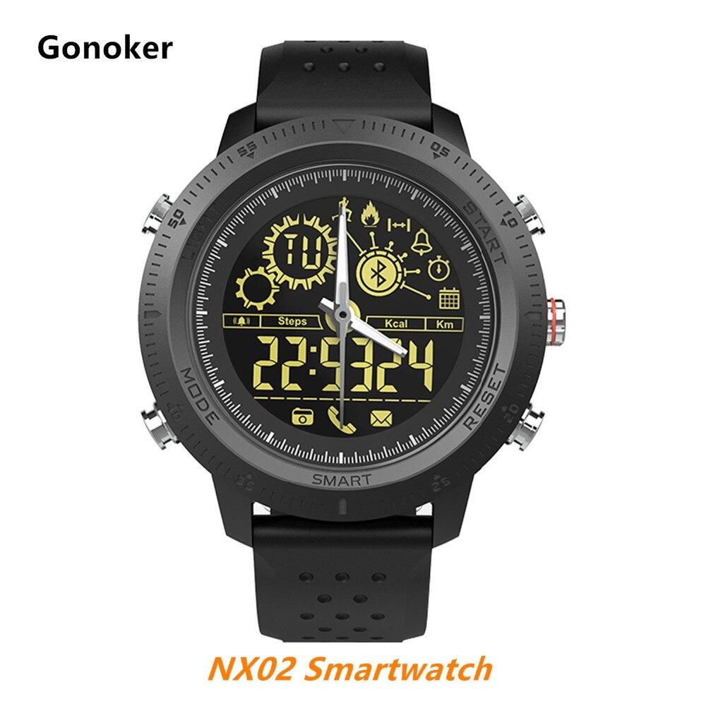 Gonoker NX02 montre intelligente passomètre Calories sport numérique bracelet Bluetooth bande IP67 étanche DZ09 X6 Q18 A1 Y1