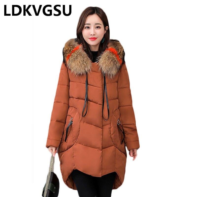 Plus Size Women's Jacket 2018 New 5XL Large Size Women Down Cotton Jackets Hooded Long Coat Female   Parkas   Winter Outwear Is1359
